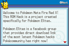 Pokémon Meta Fire Red X 1
